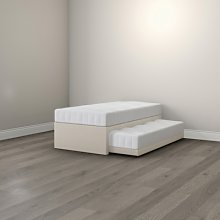 Guest Bed, White, Single