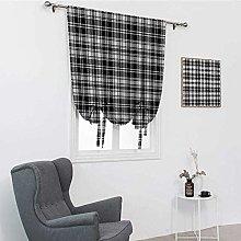 GugeABC Abstract Decor Bathroom Window Curtain,