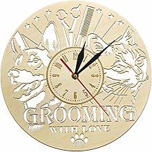 guijinpeng Wall Clocks Animal Care Pet Grooming