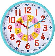 guijinpeng Wall Clocks12 inch 12 Inch Blue Metal