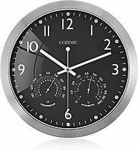 guijinpeng Wall Clocks12 inch 12 Inch Metal Frame