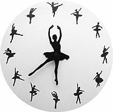 guijinpeng Wall Clocks12 inch Ballet Female Dancer