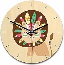 guijinpeng Wall Clocks12 inch lion Wooden creative