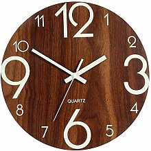 guijinpeng Wall Clocks12 inch Luminous Wall Clock