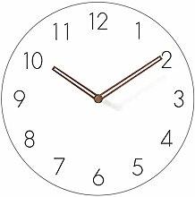 guijinpeng Wall Clocks12 inch Simple Modern White