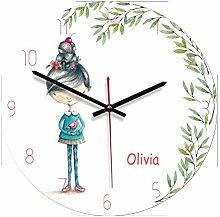 guijinpeng Wall Clocks12 inch Wooden Wall Clock