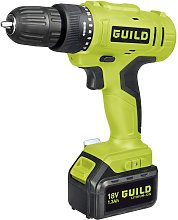 Guild 1.3AH Cordless Drill Driver with 2 18V