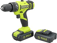 Guild 1.5Ah Combi Drill 2 Batteries & 100