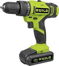 Guild 2.0AH Cordless Impact Drill & 100