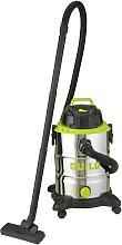 Guild 30L Steel Drum Wet and Dry Vacuum Cleaner -
