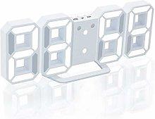Guillala 3D LED Hollow Number Wall Clock