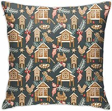 ~ Guinea Pig Parade Decorative Pillow Case Home