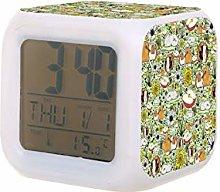 Guinea Pigs Electric Alarm Clock Night Light Nap