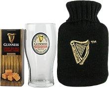 Guinness Hot Water Bottle, Glass & Fudge