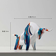 Guiping Nordic art splashing color Cow Ornament