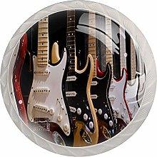 Guitar Cabinet Dresser Drawer Knobs Glass Pull
