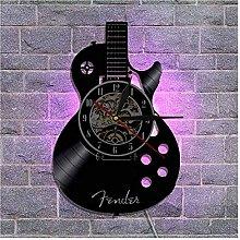 Guitar CD LED Luminous Vinyl Wall Clock 12 Inch