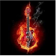 Guitar in Flames 1.92m x 192cm Children's