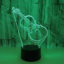 Guitar Led Night Desk Light, 7 Colors Changing 3D