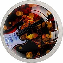 Guitar Music White Crystal Drawer Handles