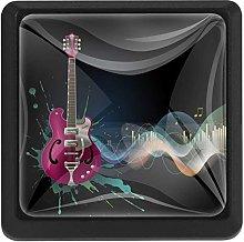 Guitar Pink Music Notes, 3 Pcs Crystal Class