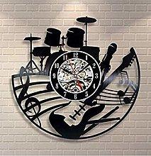 Guitar shaped vinyl wall clock vinyl record wall