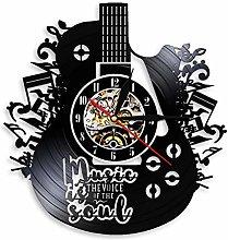 Guitar Styling LED Luminous Vinyl Wall Clock 12