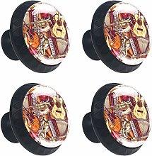 Guitars Round Drawer Knob Pull Handle Cupboard