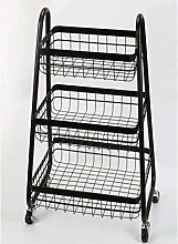 gujiu Storage Trolleys Kitchen Bathroom 3-Tier