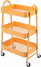 gujiu Storage Trolleys Metal Mesh Rolling Storage