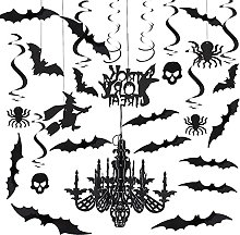 Gukasxi Halloween Hanging Swirl Decorations, 42Pcs