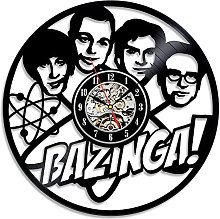 Gullei.com Bazinga Vinyl Wall Clock Gift for Big