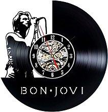 Gullei.com Handmade Vintage Vinyl Clock Gift for