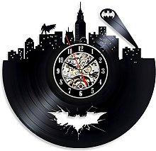 Gullei.com Vintage Vinyl Clock Batman Theme Unusual