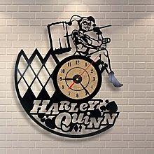 Gullei.com Vinyl Clock Harley Quinn Wall