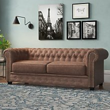 Gunnora 3 Seater Chesterfield Sofa Ophelia & Co.