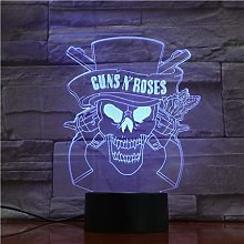 Guns N' Roses Band 3D Table Lamp Night Light 7