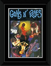 Guns N Roses - Group Collage Framed and Mounted