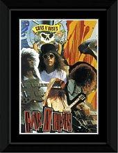 Guns N Roses - Slash Collage Framed and Mounted