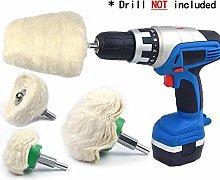 GUOCAO 4PCS Cotton Buffering Polishing Wheel Kit