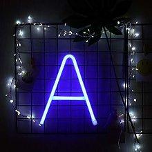 GUOCHENG Blue Neon Alphabet Letter Light LED