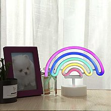 GUOCHENG Colorful Rainbow LED Neon Sign Pedsteal