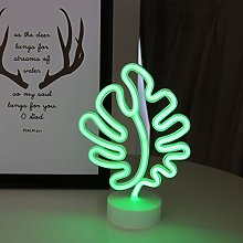 GUOCHENG Cute Monstera LED Neon Light Batteries