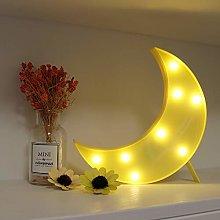 GUOCHENG Cute Moon LED Night Light Battery