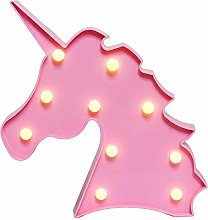 GUOCHENG Cute Unicorn Head LED Night Light Animal