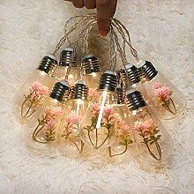 GUOCHENG Drop Shape Bulbs String Light Plant Decor