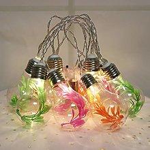 GUOCHENG Edison Bulb Ball String Light Plant Decor