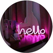 GUOCHENG LED Neon Letter Light Hello Shaped Light