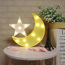 GUOCHENG Lovely Moon&Star Night Light Set Battery