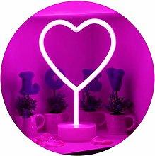 GUOCHENG Lovely Pink Heart Neon LED Light Sign